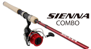 Shimano sienna spinning rod & reel combo 6.6' 1 piece